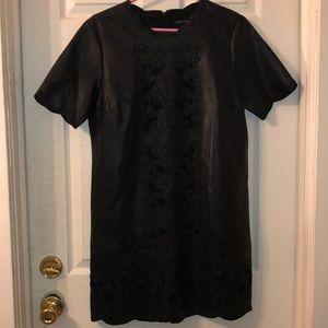 Lace Faux Leather Black Zara Dress Large